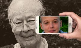 Youth Smartphone Boy Child Age Old Man Face
